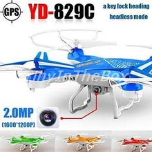 Attop YD829c Drone with Hd Camera One Key Lock Heading 2.4g 4ch 6axis Rc Quadrocopter