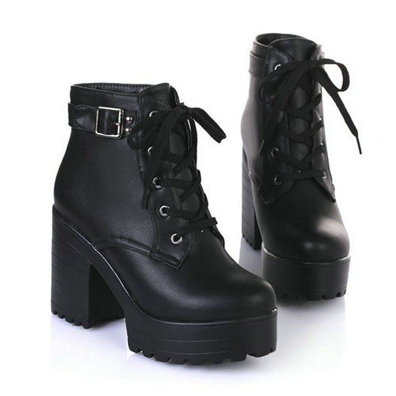 Excellent NEW WOMENS ANKLE BOOTS LADIES HIGH BLOCK HEEL WINTER