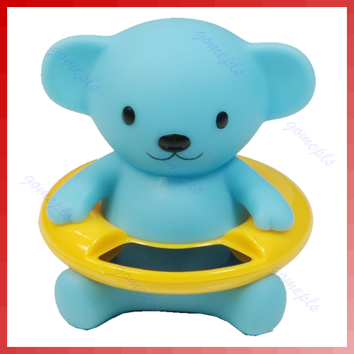 Cute Bear Bath Tub Baby Infant Thermometer Water Temperature Tester Toy New Free Shipping(China (Mainland))