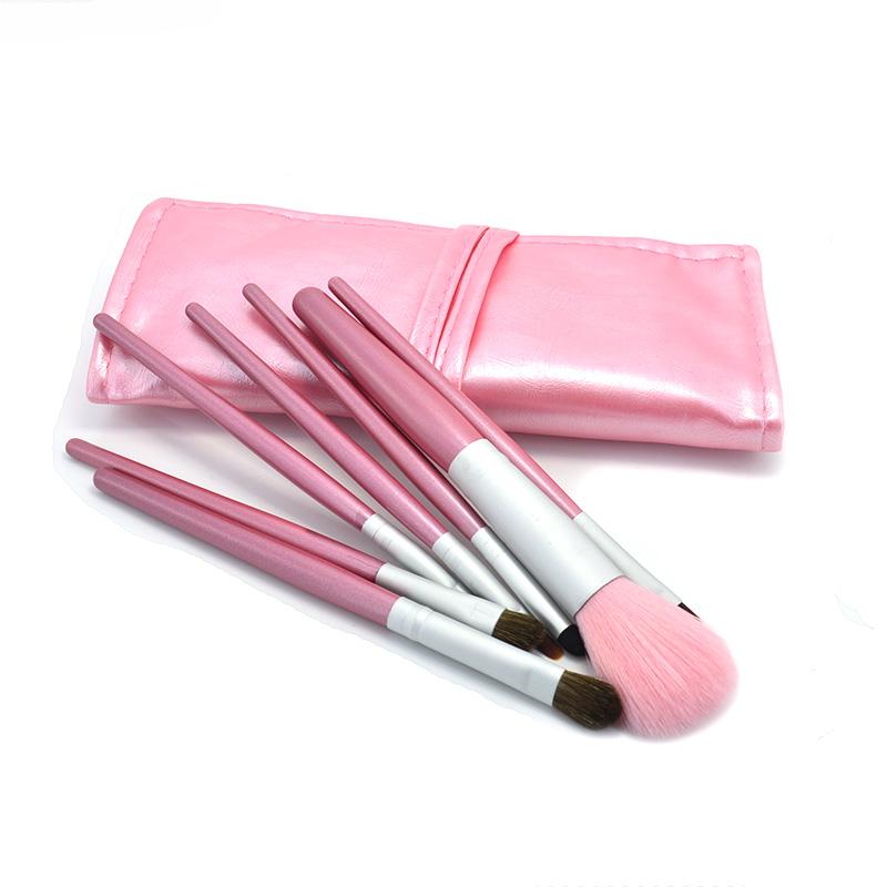 2016 Professional Fashion Pink Brushes 7Pcs Full Make Up Set Eyebrow Brush Kit KJDMB046(China (Mainland))