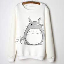 Brand new totoro tops women casual long sleeve shirts cartoon totoro print cotton pullovers woman autumn shirts tops moleton(China (Mainland))