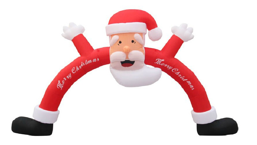 free shipping included air blower 4*3m advertising inflatable christmas arch santa clause for decoration party(China (Mainland))