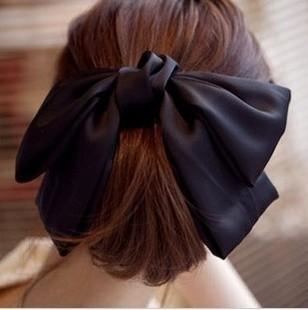 E0928 hair accessory satin large bow hair clips side-knotted clip female hair accessory yiwu accessories 23g  Min Order $10