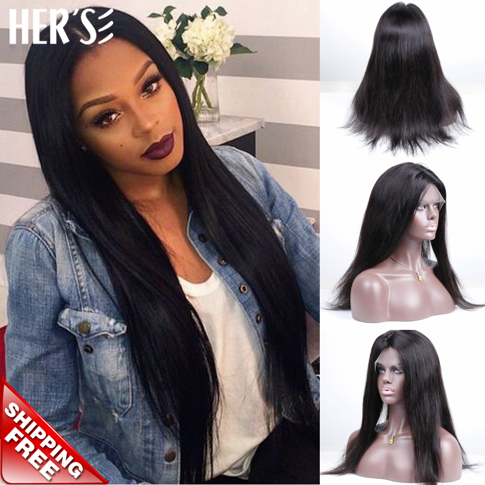 Фотография HERS Lace Front Wig Glueless Full Lace Front Human Hair Wigs,100 Human Hair Wigs For African Americans Cheap Natural Short Wigs