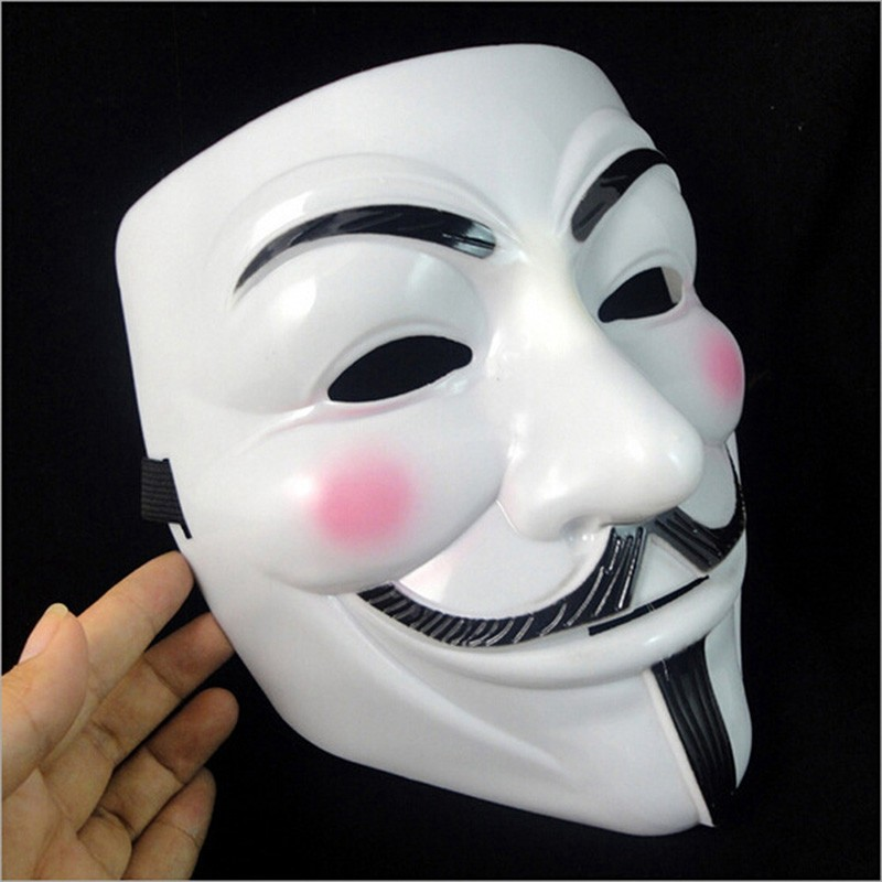 Hot Sale V for Vendetta Mask Guy Fawkes Anonymous Halloween Masks fancy dress costume superhero party masks YW3A-90_4