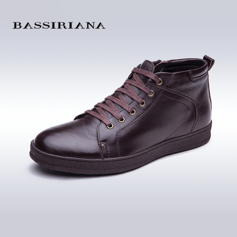 BASSIRIANA New Fashion Men Shoes Men's Flats leather shoes Winter Men Loafers Dress Shoes Black Casual Shoes Plus Size 39-45(China (Mainland))