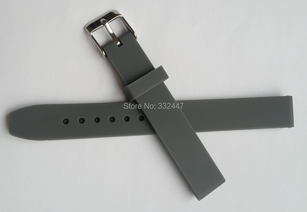 New 14 mm gray silicone rubber watch band watches accessories accessories outdoor sports watch wristwatch strap belt<br><br>Aliexpress