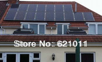 3kW solar home system, grid tie solar power system includes 3kw solar panels and 2800w on grid solar inverter