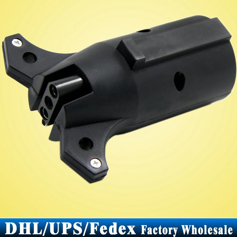 Free DHL Fedex 30PCS 4 PIN Trailer US Plug Car Blade Round Connector Light Adapter T21849 Flat RV(China (Mainland))
