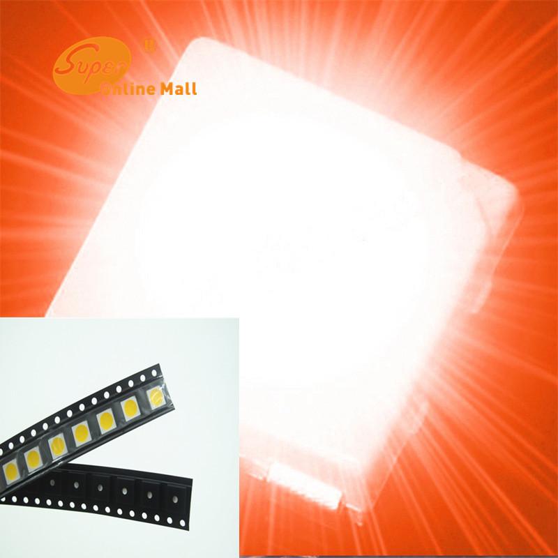 500PCS smd 5050 orange LED High Power 3-CHIPS Super Bright LED PLCC-6 Light Diode 5050 orange SMD/SMT lamp light High quality(China (Mainland))