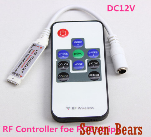 RF RGB Controller Mini RF Wireless LED Remote Controller for RGB 5050/3528 LED Lights Strips(China (Mainland))