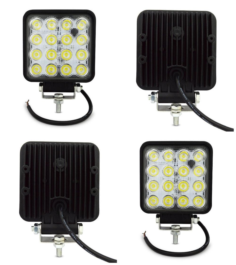 4pcs 4INCH 48w led work light offroad for trucks LED OFF ROAD lights 4X4 ATV car