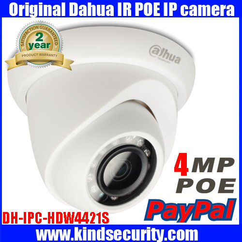 2016 original Dahua 4MP IP Camera PoE DH-IPC-HDW4421S IR security cctv Dome Camera onvif PoE original HDW4421S English firmware(China (Mainland))