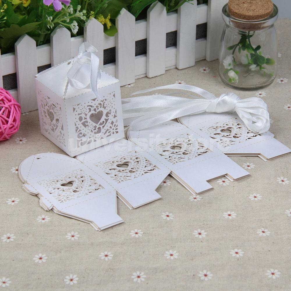 10PCS Love Heart Paper-cut Wedding Party Favor box Candy Boxes Sugar White CA1T(China (Mainland))