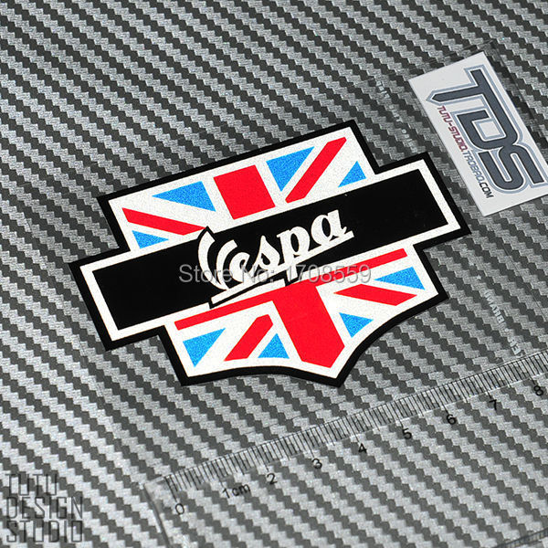 Vespa Stickers Scooter Car Stickers uk Flag Vespa Car