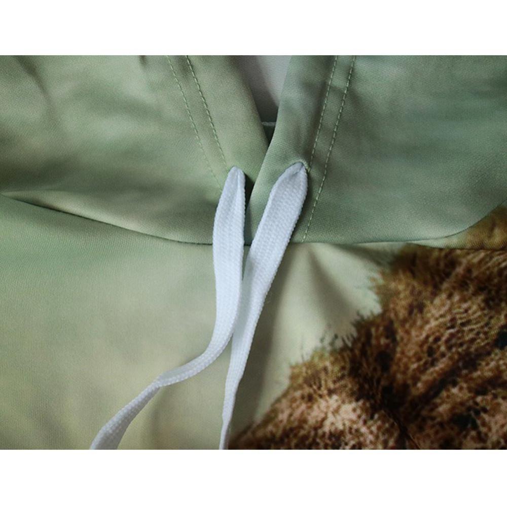 ร้อนผู้หญิงผู้ชายh oodiesฮิปฮอปเสื้อตลก3Dเสือสิงโตแฟชั่นเสื้อกันหนาวหมวกวอร์มของผู้หญิงu nisex p ulloversกับหมวก2016 ถูก