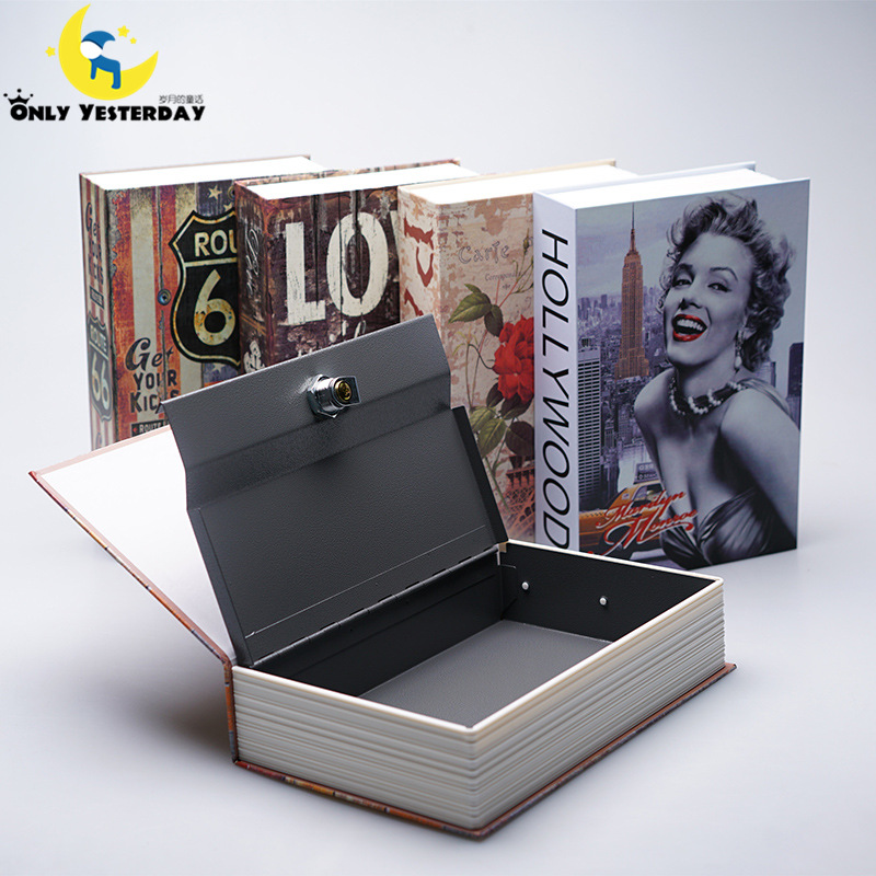 3 Size Password Keylock Money Box Dictionary Secret Simulation Book Cash Jewelry Hidden Safe Piggy Bank With Lock Storage Box(China (Mainland))