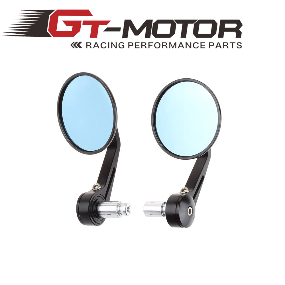 Motoo - Round Motorcycle Bike Rearview Mirror Side Mirror With 7/8 Hollow Handlebar CNC Aluminum<br><br>Aliexpress