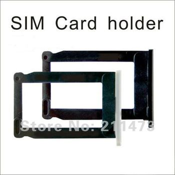 For Iphone 3G 3GS Sim Card Tray Holder with white and black available; 100% original by free shipping; 10pcs/lot