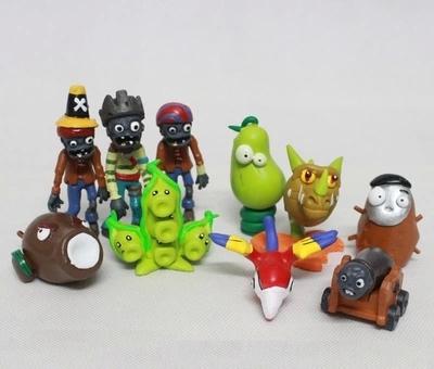 Бесплатная доставка растения против зомби детские развивающие игрушки идеи для подарков пвх фигурку 10 шт./компл.