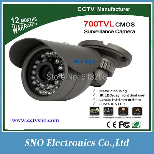 Sno Best sales IR-CUT Filter 700TVL ! Newest most popular 700TVL Waterproof Outdoor mini CCTV Camera, CMOS sensor, 30 IR Led(China (Mainland))