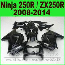Buy DIY black Kawasaki Ninja 250r Fairings kit fits EX250 2008 2014 year model ZX 250 08 09 10 11 12 13 14 fairing kits R8L8 for $298.48 in AliExpress store