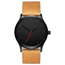 2019 NOVA Marca de Luxo Dos Homens Do Esporte Relógios dos homens Relógio de Quartzo Homem De Couro Militar Do Exército Relógio de Pulso Relogio masculino Gota grátis(China)