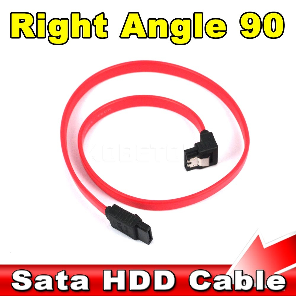 1pcs High Quality/Speed data Transfer 45cm Serial SATA ATA RAID DATA HDD Hard Drive Signal Wire Cable Straight to Right Angle 90(China (Mainland))