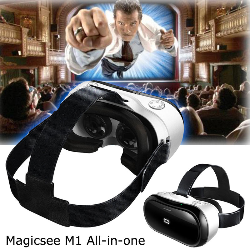 Free shipping!Magicsee M1 ALL-IN-ONE VR Virtual Reality 3D Glasses Android 4.4 Full HD 2G/16G