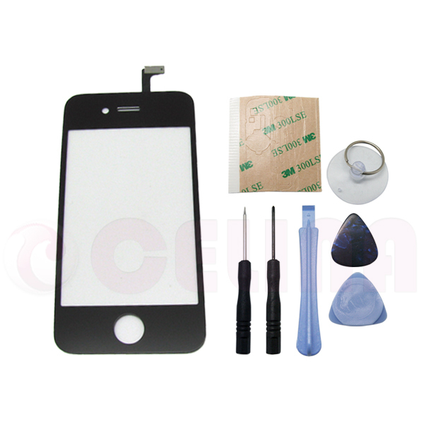 Replacement For iPhone 4 4G Gen Black Digitizer Glass Touch Screen Panel w/Tool, Free Shipping+Tracking