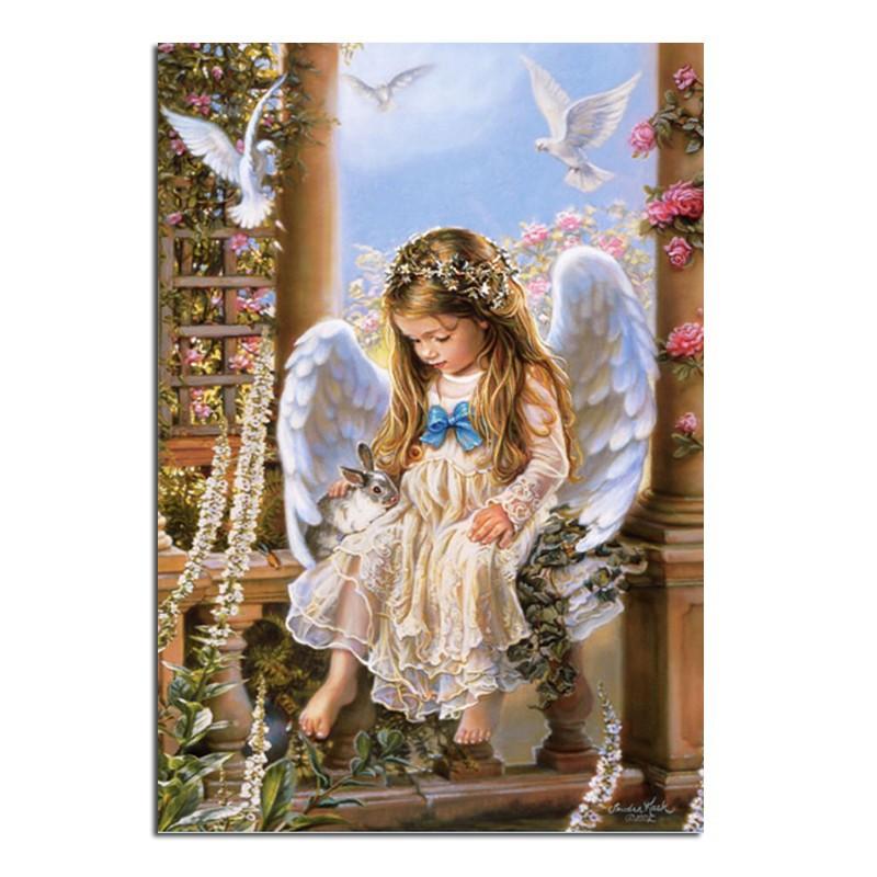 Картина ангела стразами фото