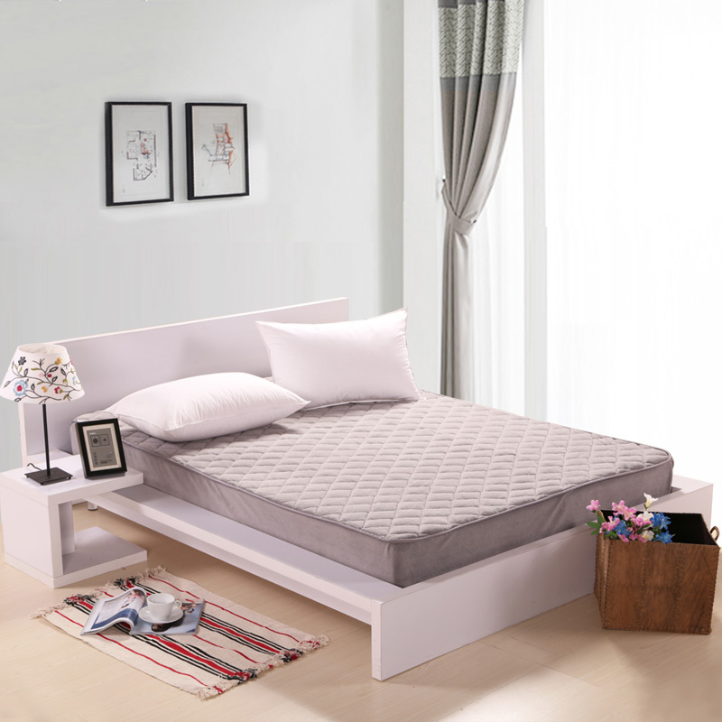 2015 Hot Quality Soft Coral Mattress with Fitted solid colors Polyester thick mattresses breathable Woven cotton fabric Fitteds(China (Mainland))