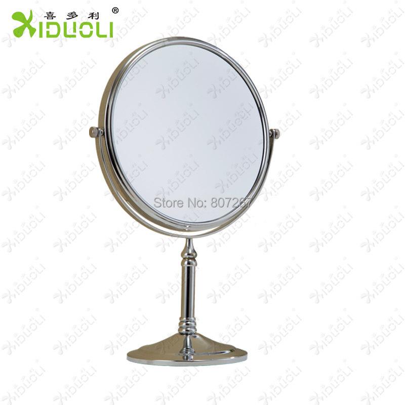 Espelho xiduoli 3x magnification copper standing makeup mirror 8 inch 20 cm magnifying bathroom for Magnifying bathroom mirror on stand