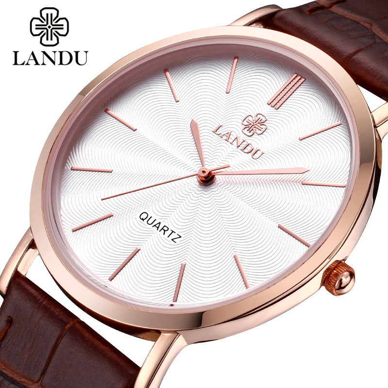 LANDU authentic brand ultra-thin men women fashion leisure waterproof quartz lovers luxury designers the original watches<br><br>Aliexpress