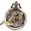 Polish Quartz Men Antique Pocket Watch Bronze Eiffel Tower Quartz watch Necklace Vintage Pendant Chain Mens