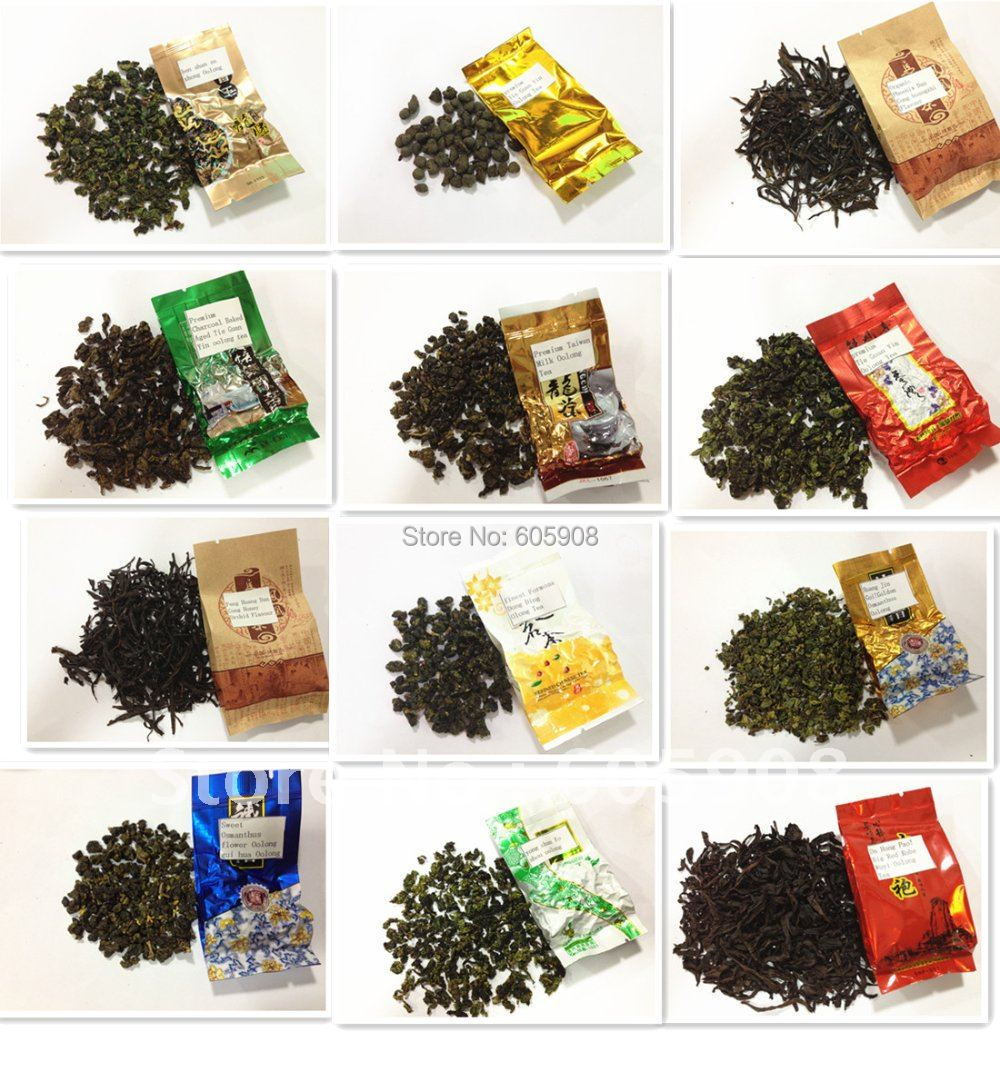 12 Different Flavors Famouse Premium Oolong Tea 12 Tpyes Assorted Oolong Tea 120g
