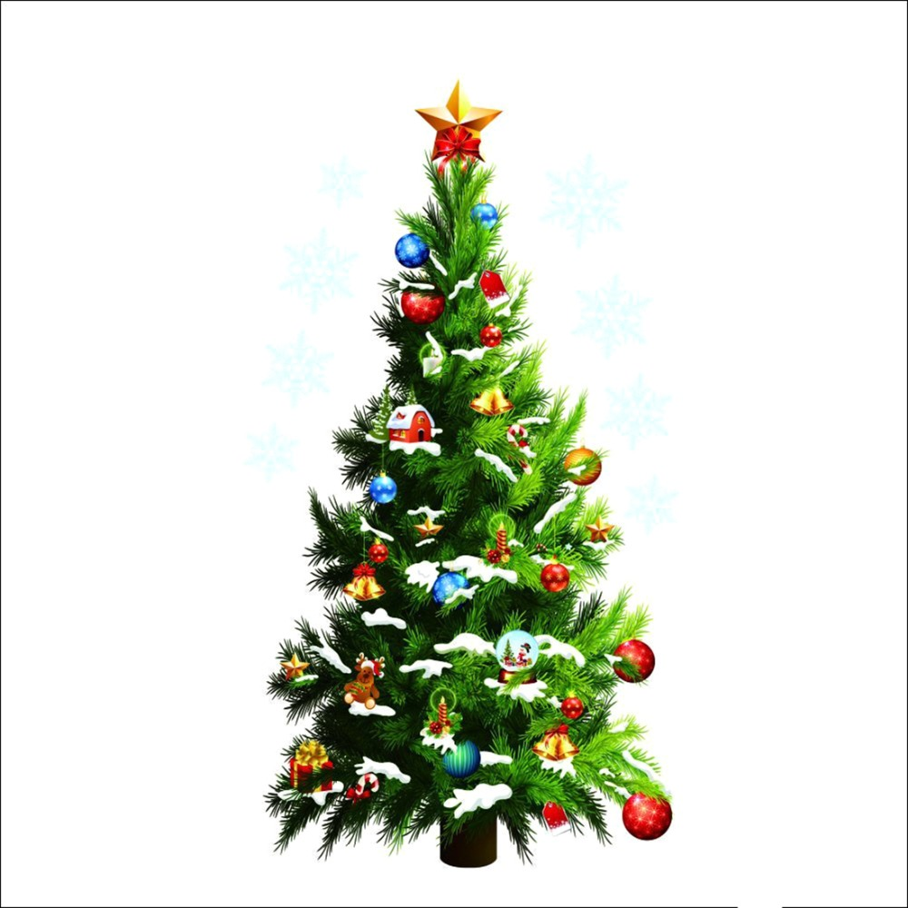Christmas Tree Wall Stickers Removable