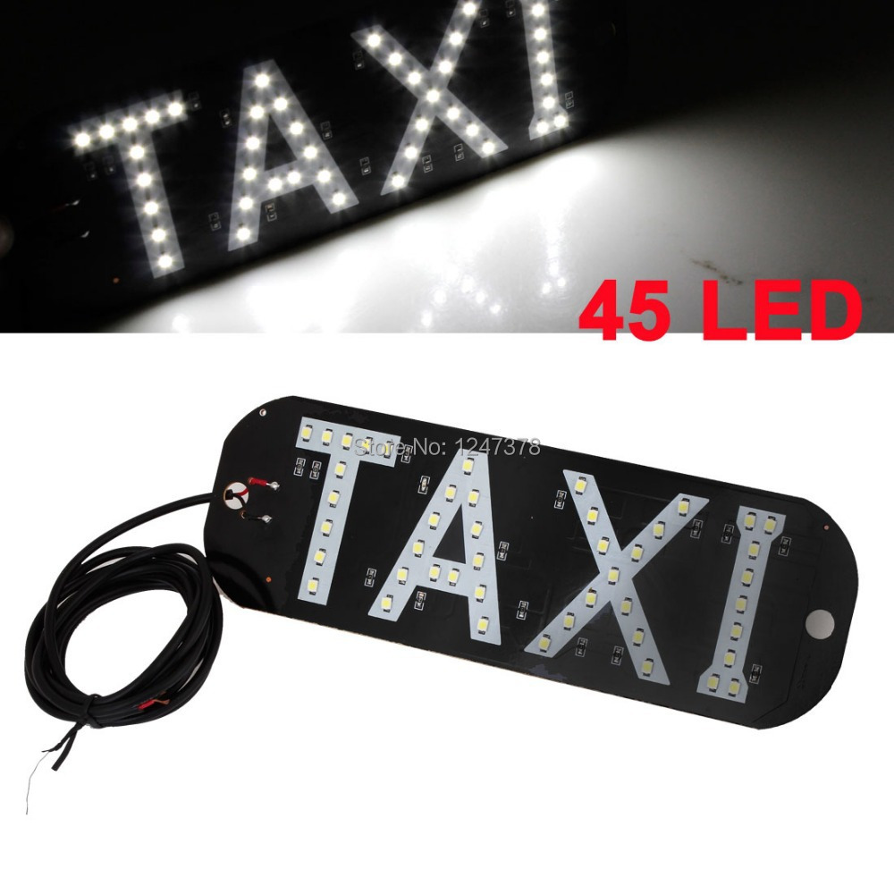 Taxi Roof Dome Light 45 SMD White LED Lighting Lamp Replacement Discount 50(China (Mainland))