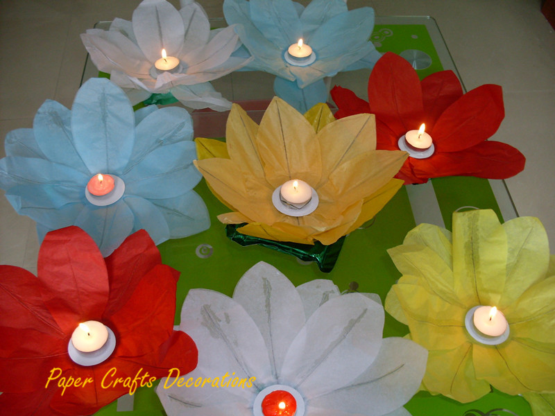12inch (30cm) 50pcs/lot Floating Lotus Flowers Lanterns Paper Candle Lotus Lanterns 12 Petals Wedding Party Decorations(China (Mainland))