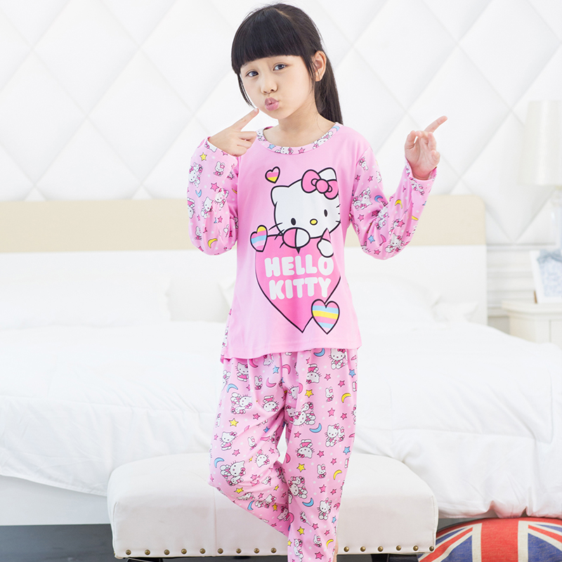 Hot sale casual soft autumn winter long sleeve kids boys pajamas cute