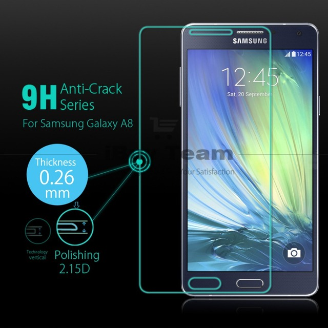 buy for samsung galaxy a8 tempered glass screen protector for galaxy a8 sm. Black Bedroom Furniture Sets. Home Design Ideas