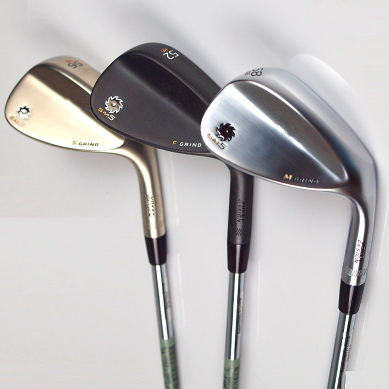 3pcs lot Free Shipping 2015 Brand New Spin Milled Golf Clubs Wedge Vokey Golf wedges loft 52 54 56 58 60 Silver Black Gold SM5(China (Mainland))