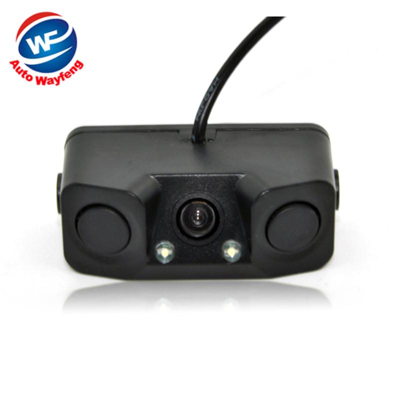 3 in1 Parking Camera Sensors Black Sensors Reversing Radar Car Rearview Rear View Camera Reversing Camera Waterproof(China (Mainland))