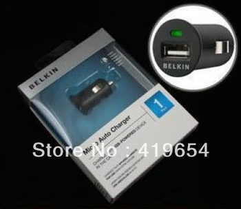 Belkin Car Charger Power Inverter 5V 1A With Retail Package + 500pcs/lot EMS Free Shipping