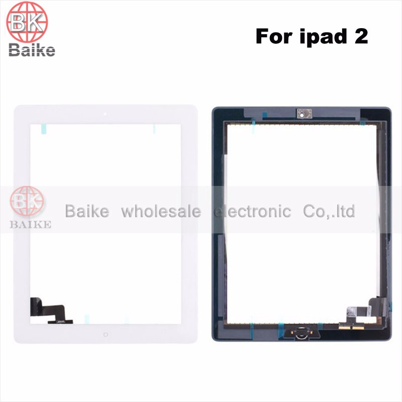 New Tested For Ipad 2 3 mini1 mini2 Touch Screen + IC parts For ipad 5 air2 Glass panel Digitizer with Home Button +Tape