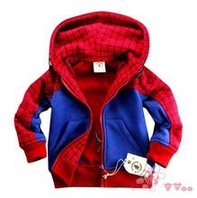 High Quality 2016 Autumn Fashion Boys Hoodies Moleton Hoodies Children Sweatshirts Boys Coats Spiderman Jackets Kids Outerwear(China (Mainland))