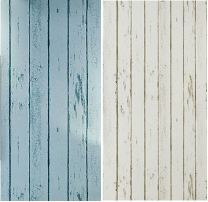 papel de parede. Blue/White Wood Panel non-woven wallpaper Roll Natural Rustic Scrapwood Woodboard wallcovering Design Vintage(China (Mainland))