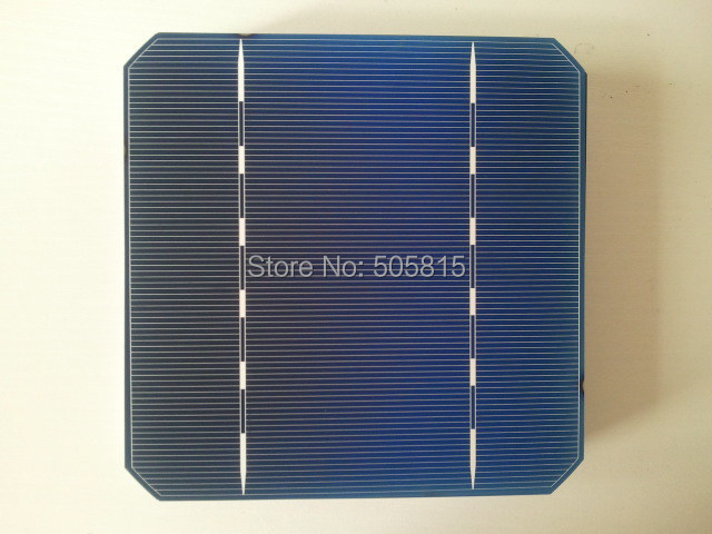 Free shipping 20 pcs/Lot 125*125mm Monocrystalline solar cell 5*5 Mono solar cell (2.972W A Grade)+ Enough Tabbing wire & Busbar(China (Mainland))