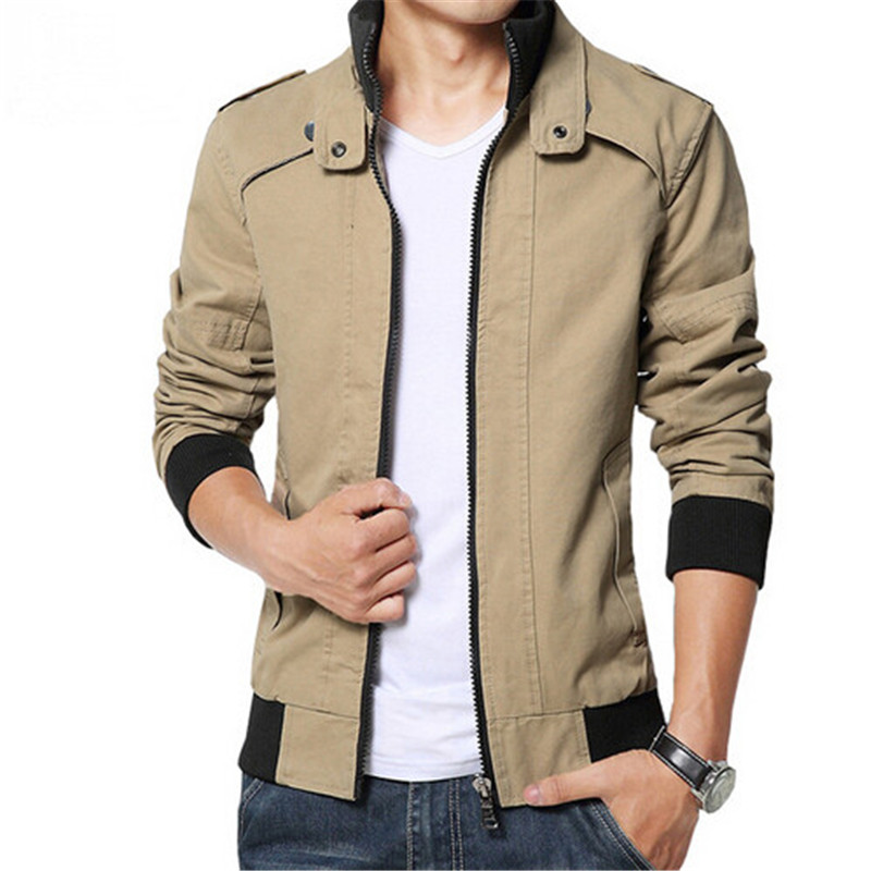 Plus Size 5XL 2016 New Arrival Men's Jackets Spring Autumn men's coats Slim Fit Jaqueta Masculina MJ237(China (Mainland))