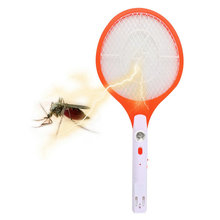 1pcs Hot Worldwide Rechargeable LED Electric Insect Bug Fly Mosquito Zapper Swatter Killer Racket 3-layer Net Safe(China (Mainland))